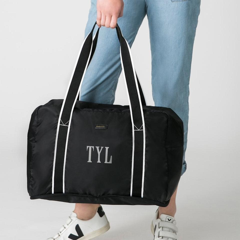 """<p>This <a href=""""https://www.popsugar.com/buy/Paravel-Fold-Up-Bag-485964?p_name=Paravel%20Fold-Up%20Bag&retailer=tourparavel.com&pid=485964&price=46&evar1=fab%3Auk&evar9=46500355&evar98=https%3A%2F%2Fwww.popsugar.com%2Ffashion%2Fphoto-gallery%2F46500355%2Fimage%2F46562758%2FParavel-Fold-Up-Bag&list1=shopping%2Clabor%20day%2Csale%2Csummer%20fashion%2Csale%20shopping&prop13=api&pdata=1"""" rel=""""nofollow"""" data-shoppable-link=""""1"""" target=""""_blank"""" class=""""ga-track"""" data-ga-category=""""Related"""" data-ga-label=""""https://tourparavel.com/collections/all/products/fold-up-bag?variant=16451816063065"""" data-ga-action=""""In-Line Links"""">Paravel Fold-Up Bag</a> ($46, originally $65) is one of Oprah's Favorite Things, and we can see why. It's the easiest travel bag, and you can save 30 percent using the code NYLON.</p>"""