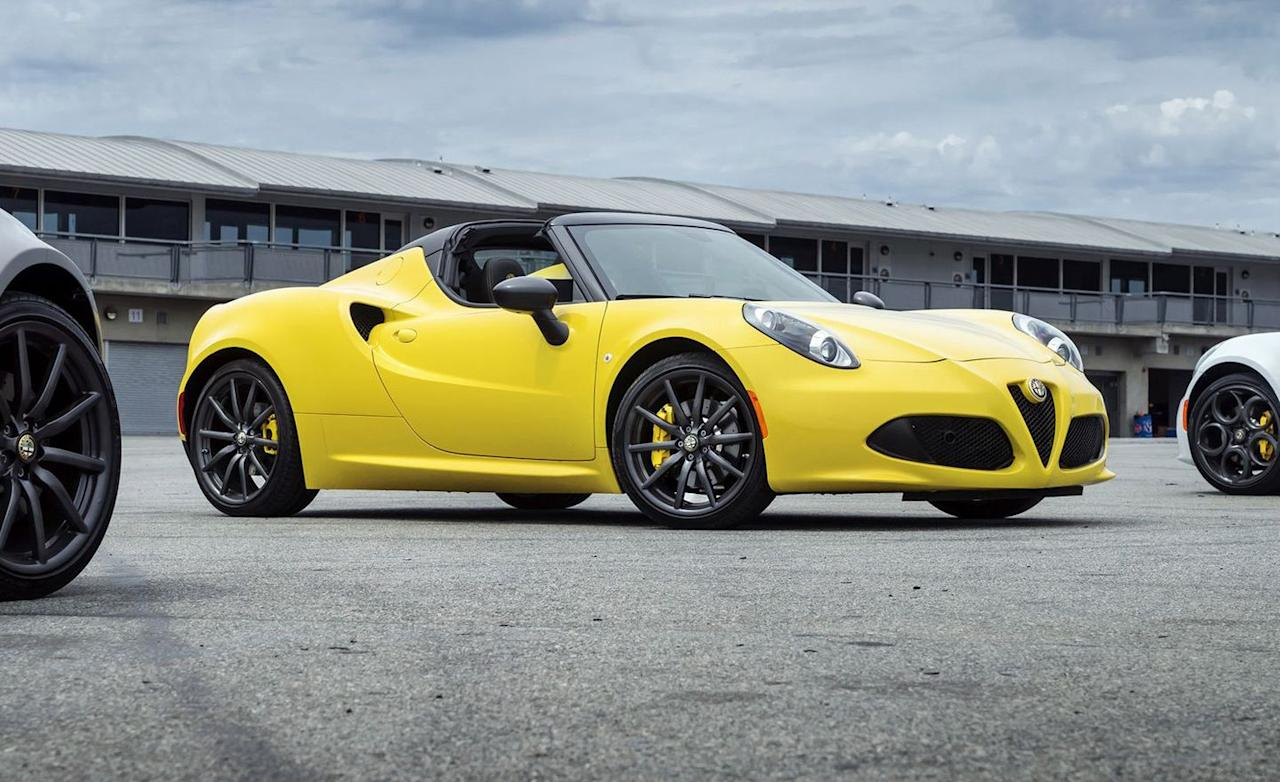 """<p>Likely the most uncompromised and most demanding sports car available, it's hardly surprising the <a href=""""https://www.caranddriver.com/alfa-romeo/4c"""">Alfa Romeo 4C</a> never sold in significant numbers. In fact, the sales were hardly detectable. Alfa only found 144 buyers for the 4C Spider and leftover 4C coupes in 2019. Sales so far during 2020? How about only 71. Toyota has that many Corollas fall off trains every week. And yet, there's a certain teary-eyed sadness about the 4C Spider's passing. There may never be anything like it again.</p>"""