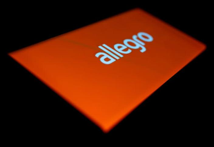 FILE PHOTO: Allegro logo is seen on the smartphone in this illustration