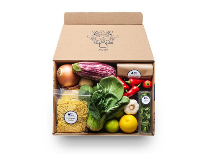 """<h2>19. Blue Apron</h2> <p><strong>Cost: </strong>$48/week</p> <p><strong>What you get: </strong>Portioned ingredients to cook two meals for two people per week, plus cooking instructions</p> <p><strong>Why we love it:</strong> Ideal for beginner cooks who want to learn new skills (you've got to check out those handy video demos!). The OG food delivery service has remained best-in-class due to their inventive, seasonal recipes and focus on quality ingredients.</p> <p><a class=""""link rapid-noclick-resp"""" href=""""https://www.blueapron.com/users/sign_up"""" rel=""""nofollow noopener"""" target=""""_blank"""" data-ylk=""""slk:Sign up for Blue Apron"""">Sign up for <em>Blue Apron</em></a></p>"""