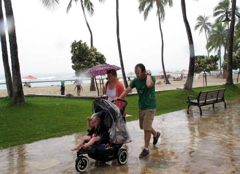 Flossie leaving Hawaii weaker than when storm came