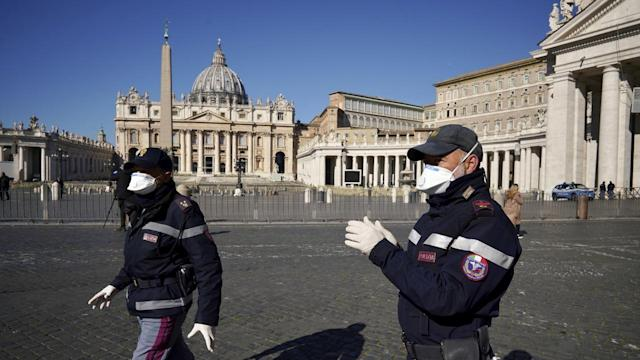 The Vatican's St Peter's Square and St Peter's Basilica have been closed to tourists