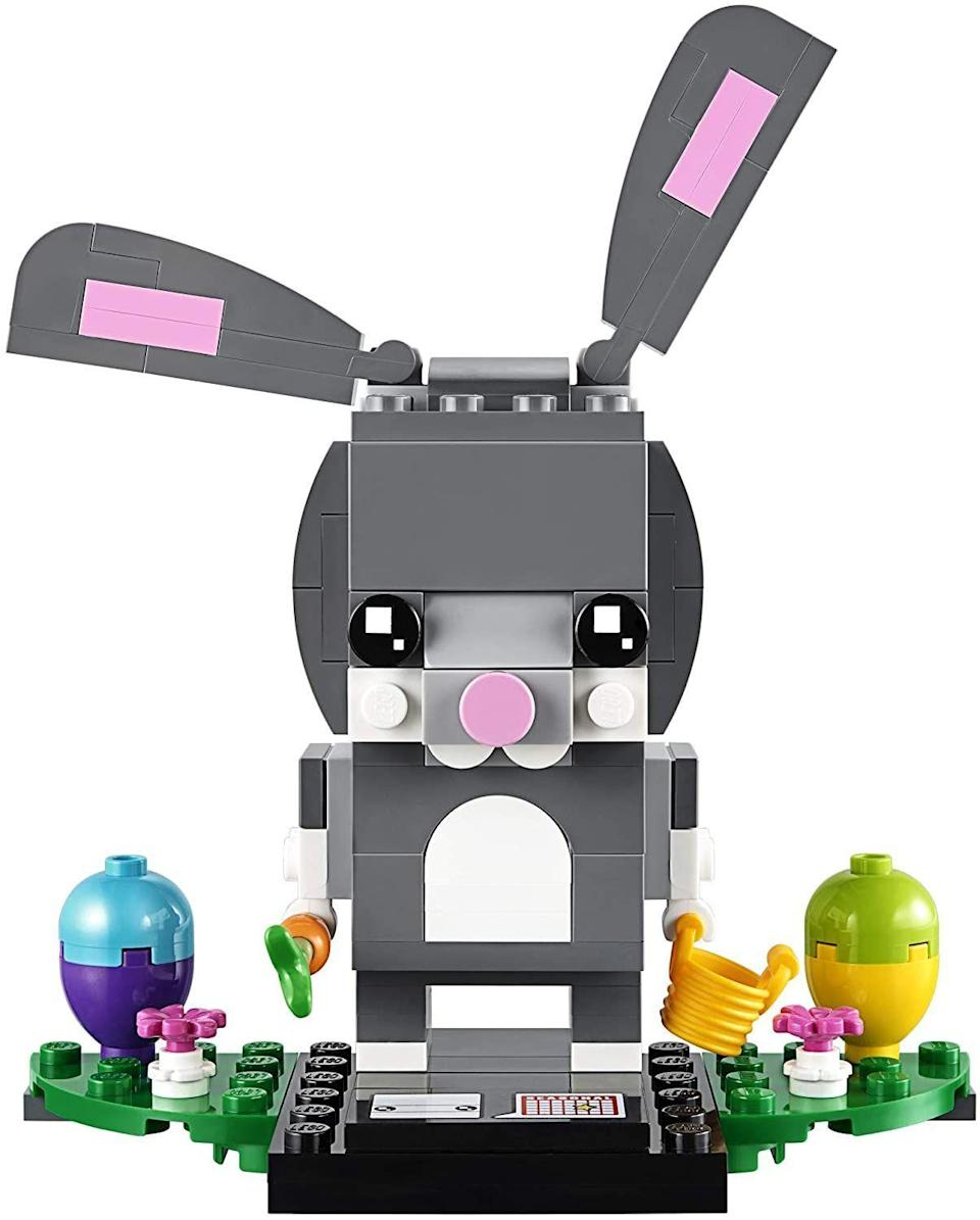 """<p><strong>LEGO</strong></p><p>amazon.com</p><p><strong>$45.95</strong></p><p><a href=""""https://www.amazon.com/dp/B079J5VGTR?tag=syn-yahoo-20&ascsubtag=%5Bartid%7C10070.g.2189%5Bsrc%7Cyahoo-us"""" rel=""""nofollow noopener"""" target=""""_blank"""" data-ylk=""""slk:Shop Now"""" class=""""link rapid-noclick-resp"""">Shop Now</a></p><p>Whether you need a solo activity or a group game, this bunny building LEGO kit is sure to keep any kid amused. </p>"""