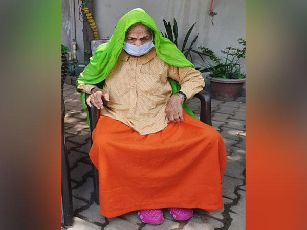 99-year-old Laddo Devi, a resident of Gurugram, defeated COVID-19 infection (ANI).