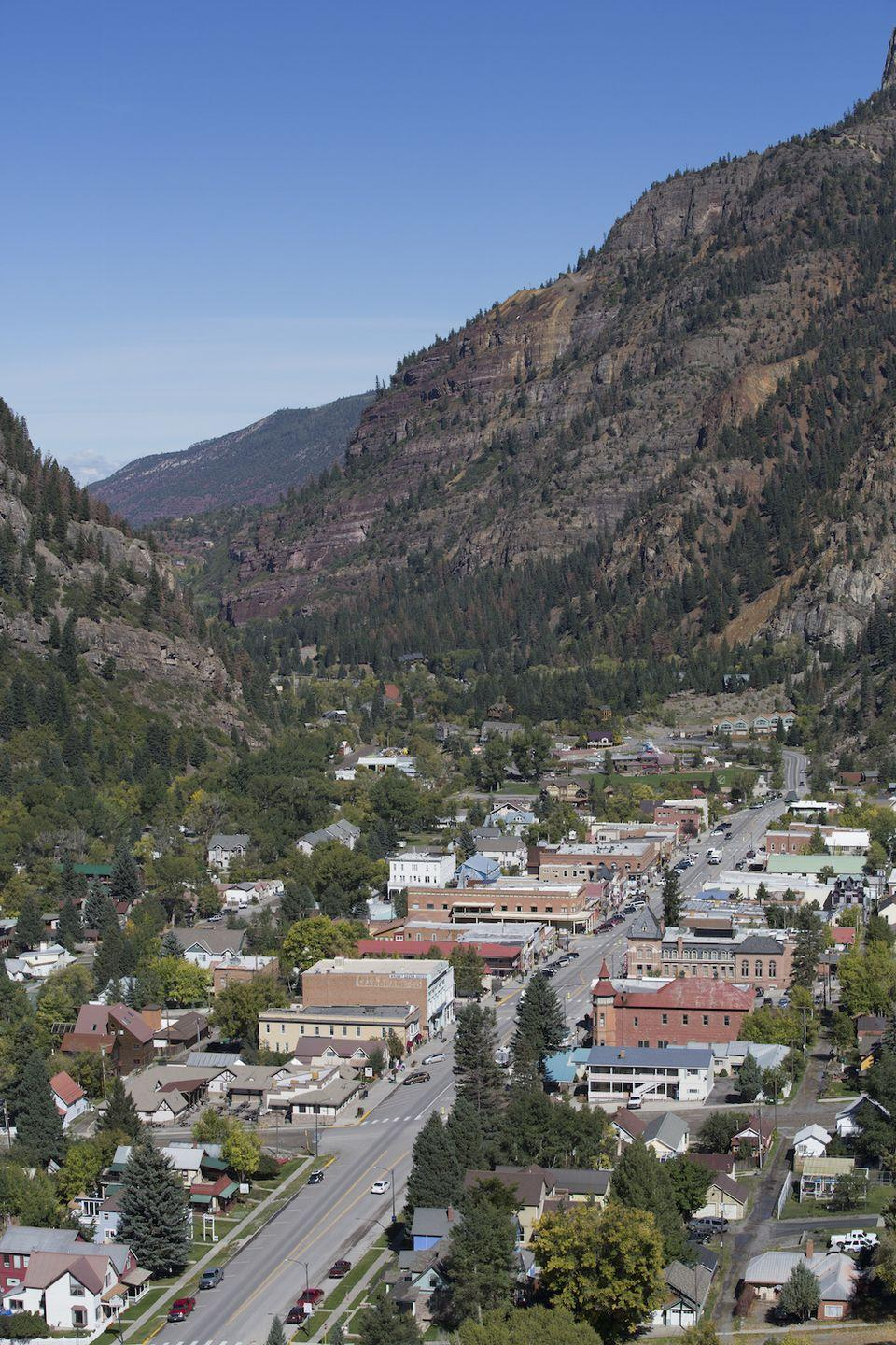 """<p>Life's a little more relaxed in Ouray, which is perhaps due to the <a href=""""http://www.ouraycolorado.com/"""" rel=""""nofollow noopener"""" target=""""_blank"""" data-ylk=""""slk:non-sulphur hot springs"""" class=""""link rapid-noclick-resp"""">non-sulphur hot springs</a> that are popular with locals and visitors alike. The beauty of the surrounding mountains might also inspire a new perspective on life, especially when viewed on a drive on the <a href=""""http://www.ouraycolorado.com/"""" rel=""""nofollow noopener"""" target=""""_blank"""" data-ylk=""""slk:San Juan Skyway"""" class=""""link rapid-noclick-resp"""">San Juan Skyway</a>, one of the most scenic in the country.</p><p><a href=""""https://www.housebeautiful.com/lifestyle/g3600/best-scenic-byways/"""" rel=""""nofollow noopener"""" target=""""_blank"""" data-ylk=""""slk:See America's most scenic drives »"""" class=""""link rapid-noclick-resp""""><em>See America's most scenic drives »</em></a></p>"""