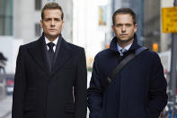 """<p><b>This Season's Theme: </b> """"Dealing with loss, and [loss] giving opportunity for growth and change,"""" creator Aaron Korsh says of Season 6's final six episodes. <br><br><b>Where We Left Off: </b> Jessica (Gina Torres) left the firm, just as Mike (Patrick J. Adams) was getting out of prison. """"While he was in jail, he didn't have to deal with the real-world ramifications of having been found out to be a fraud; he was just dealing with trying to survive in prison,"""" Korsh says. """"Now that he's out, he's dealing with the loss of his identity."""" <br><br><b>Coming Up: </b> While Mike must decide his next move, so will fiancée Rachel (Meghan Markle) after her father (Wendell Pierce) offers her a job. Harvey (Gabriel Macht) and Louis (Rick Hoffman), meanwhile, will behave like two brothers who've lost their mother. """"Old wounds are going to come up, but their overarching reaction is to become closer,"""" Korsh says. Louis and Tara (Carly Pope), who's pregnant with her ex-boyfriend's child, will wonder if they rushed their engagement. """"Louis is going to shoot himself in the foot,"""" Korsh promises, """"and then the question is, can they survive? Hopefully they can."""" <br><br><b>Don't Forget Donna: </b> Donna (Sarah Rafferty) is also thinking about her future. """"She has an arc that I like to think is very fun, but also has some real serious underpinnings for her whole sense of self,"""" Korsh teases. <i>— MB</i> <br><br>(Credit: Shane Mahood/USA Network) </p>"""