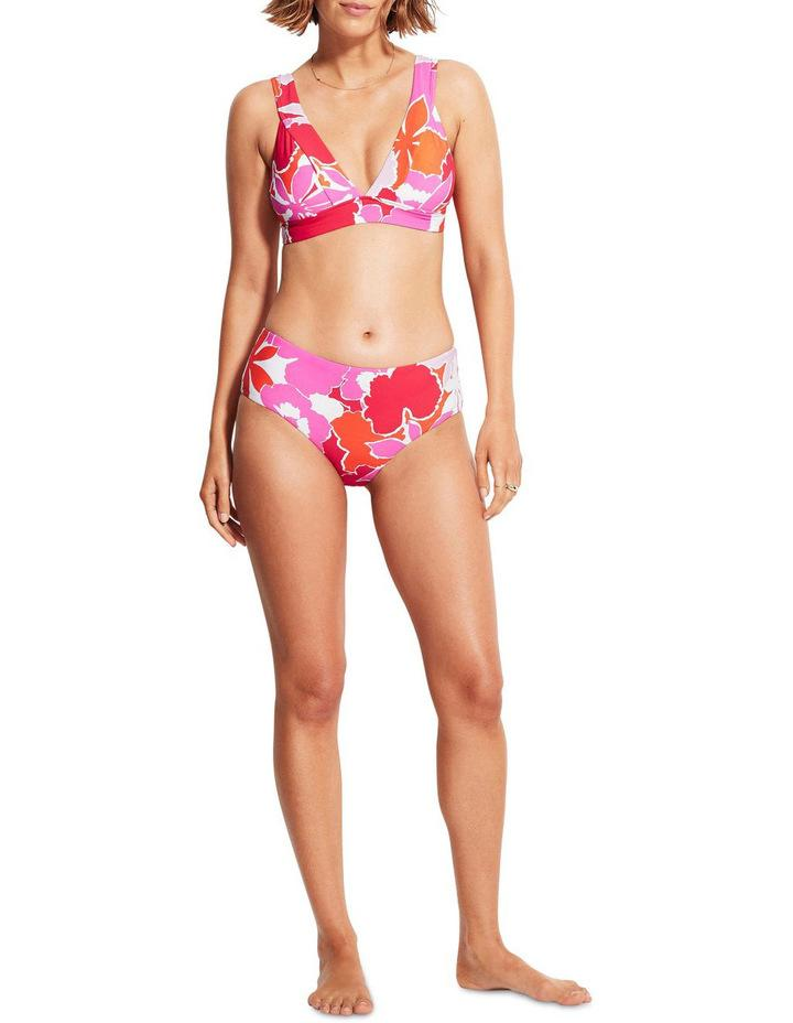 Seafolly's Sun Dancer Wide Side Retro Swim Bottoms, $59.95 with the banded tri-bra, $55,