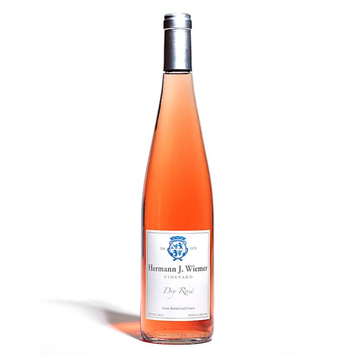 """A bone-dry, elegant rosé, this wine is made with Pinot Noir grapes on an organically managed vineyard in New York's Finger Lake region. It balances savory flavors with berry brightness. All the grapes at Hermann J. Wiemer are hand-sorted and harvested, and the fermentation process relies on indigenous yeasts. $20, Kingston Wine Co.. <a href=""""https://www.kingstonwine.com/wines/Hermann-J-Weimer-Rose-2020-w0454439bq"""" rel=""""nofollow noopener"""" target=""""_blank"""" data-ylk=""""slk:Get it now!"""" class=""""link rapid-noclick-resp"""">Get it now!</a>"""