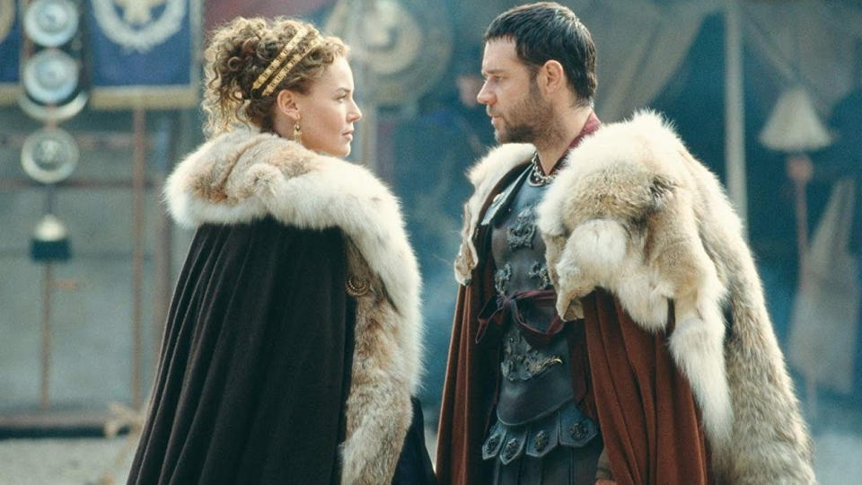 Connie Nielsen and Russell Crowe in 'Gladiator'. (Credit: Universal)