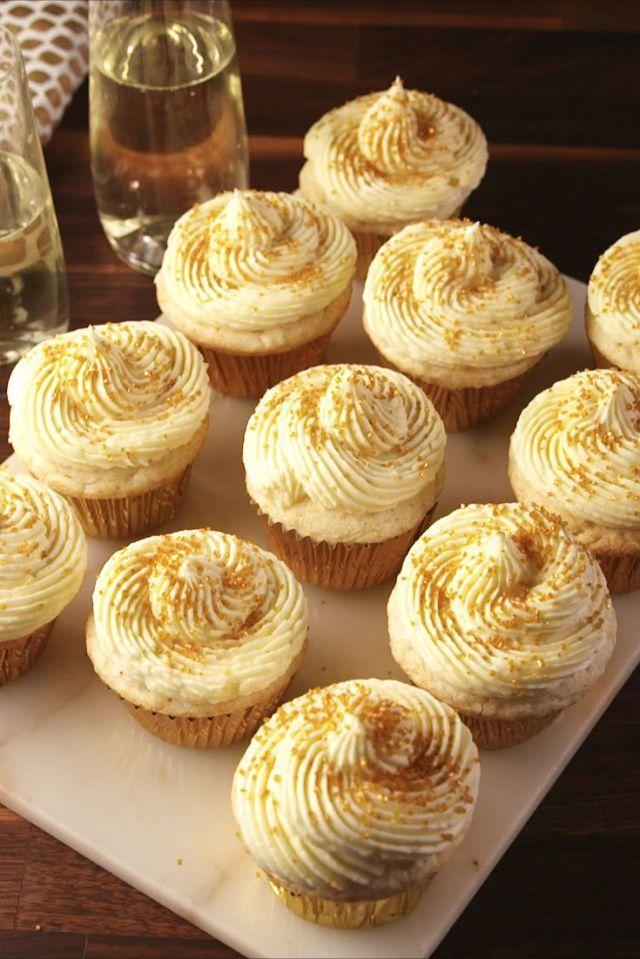 """<p>A must make for New Year's Eve.</p><p>Get the <a href=""""https://www.delish.com/uk/cooking/recipes/a28795847/champagne-cupcakes-recipe/"""" rel=""""nofollow noopener"""" target=""""_blank"""" data-ylk=""""slk:Champagne Cupcakes"""" class=""""link rapid-noclick-resp"""">Champagne Cupcakes</a> recipe.</p>"""