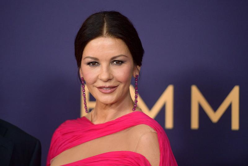 Catherine Zeta-Jones has revealed her make-up tricks, pictured in November 2019. (Getty Images)