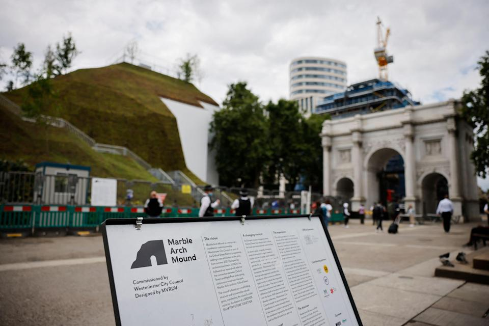 Some have compared the mound to the set from the Teletubbies (AFP via Getty Images)