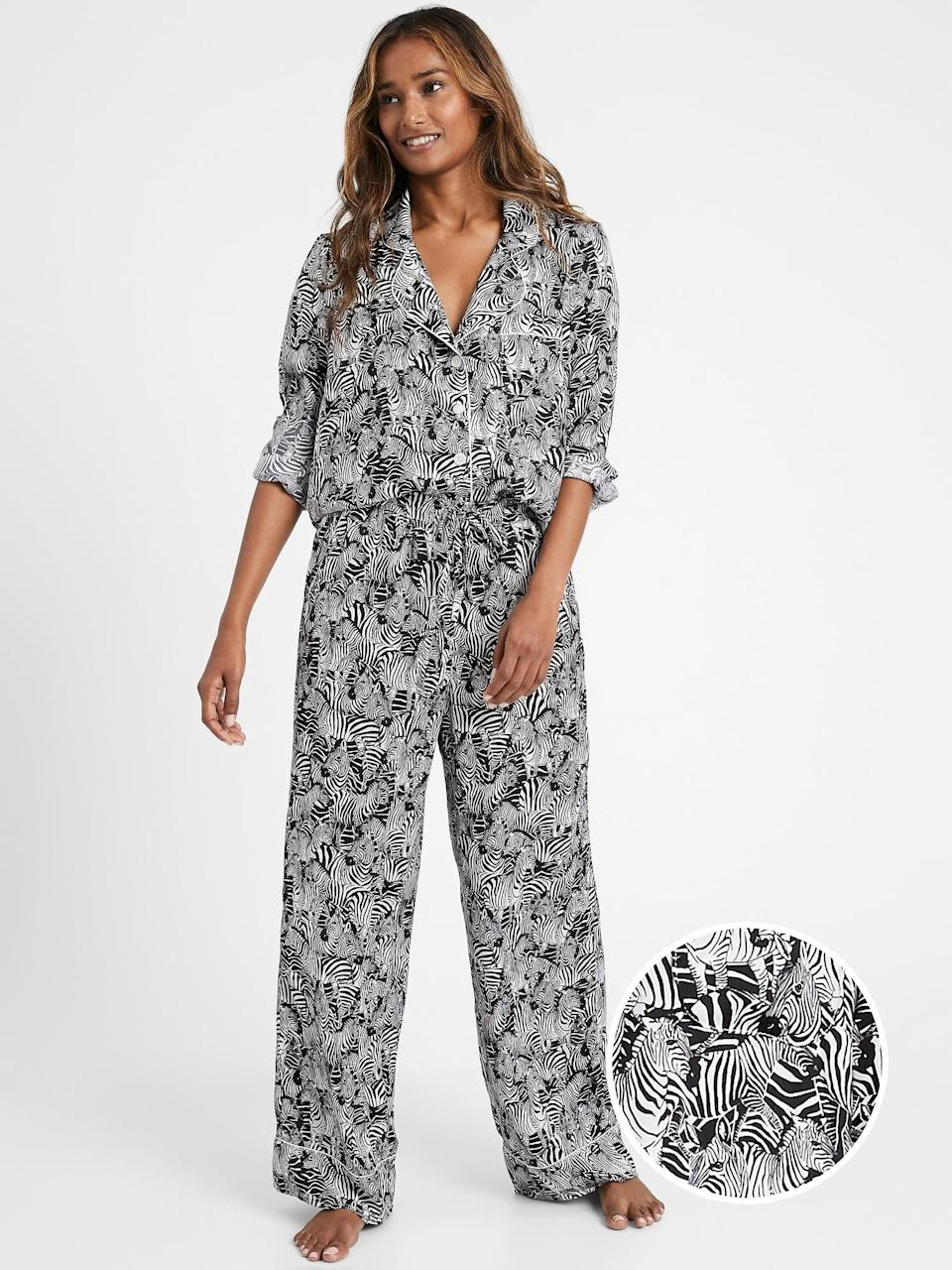 <p>Now's the perfect time to invest in a chic set of pajamas! With these <span>Banana Republic Satin Pajama Set</span> ($87) who's to say it it's a blouse or pajama top?!</p>