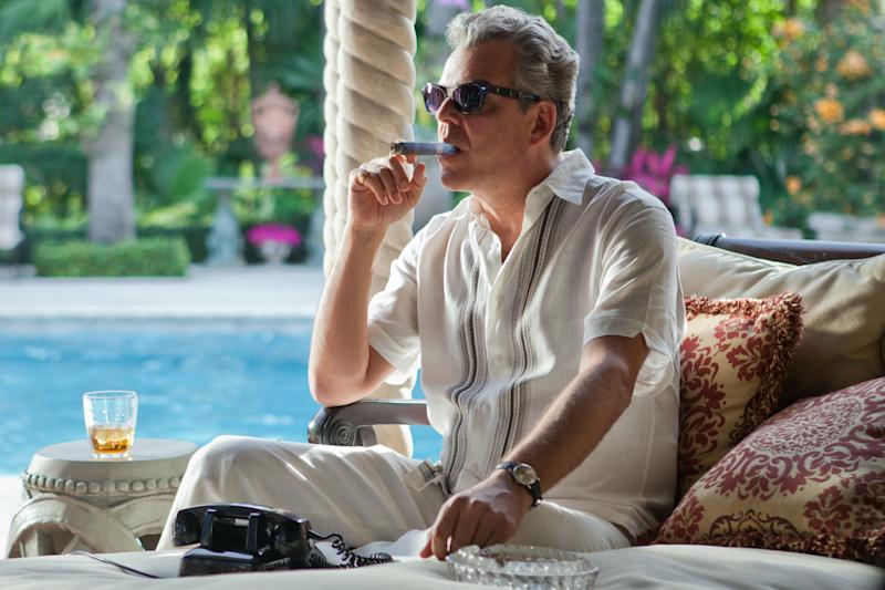 """This publicity image released by Starz, shows Danny Huston in a scene from the second season of the series """"Magic City,"""" set in Miami, Fla. The second season premieres Friday, June 14 at 9 p.m. on Starz. (AP Photo/Starz, Justina Mintz)"""