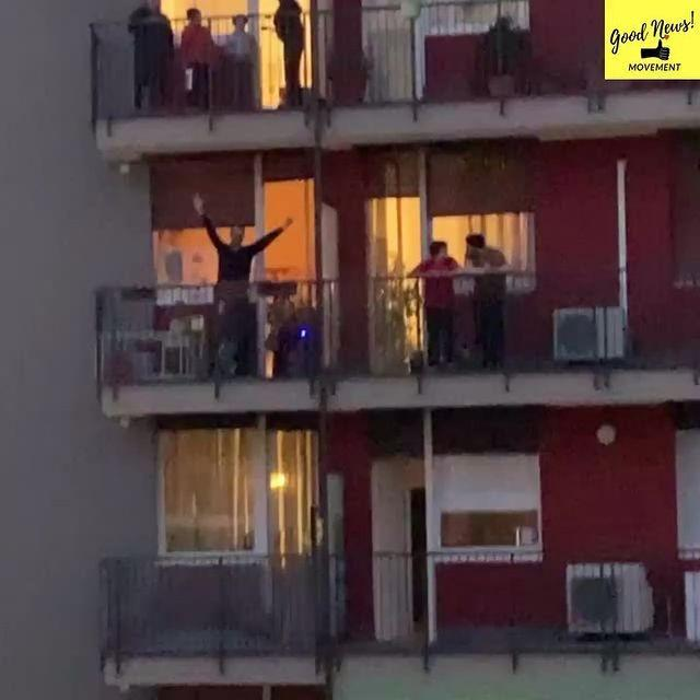 "<p>In Italy, where citizens have been on lockdown since the start of last week, impromptu mass sing and dance-alongs have been taking place via balconies.</p><p>The Good News Movement Instagram account shared this video of a Friday night balcony dance party in Milan where locals were attempting to keep spirits up despite being housebound.</p><p><a href=""https://www.instagram.com/p/B9sM_PAgE6J/"" rel=""nofollow noopener"" target=""_blank"" data-ylk=""slk:See the original post on Instagram"" class=""link rapid-noclick-resp"">See the original post on Instagram</a></p>"
