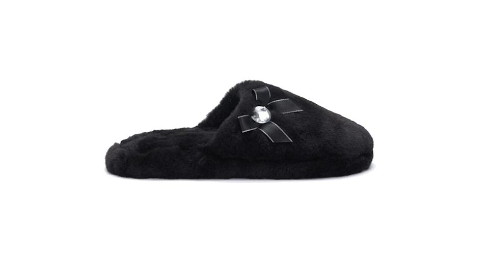 Diamante Trim Slipper