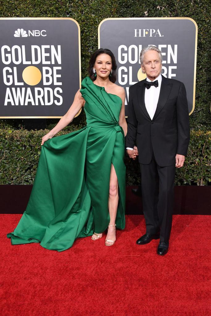 <p>Catherine Zeta-Jones and Michael Douglas attend the 76th Annual Golden Globe Awards at the Beverly Hilton Hotel in Beverly Hills, Calif., on Jan. 6, 2019. (Photo: Getty Images) </p>