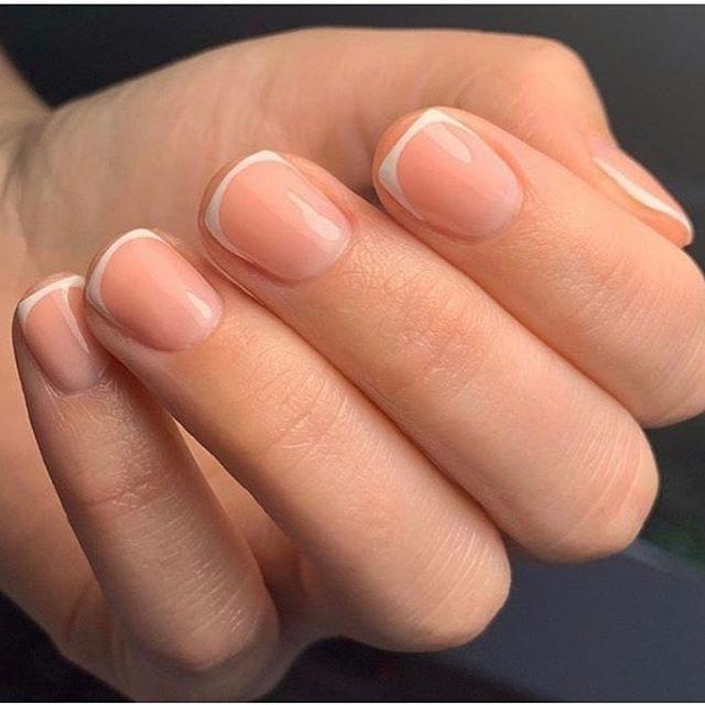 """<p>This chic design is similar to a normal French manicure, but the lines stay thin, making it look more sophisticated. Square nails with rounded white lines keep it fresh. </p><p><a class=""""link rapid-noclick-resp"""" href=""""https://go.redirectingat.com?id=74968X1596630&url=https%3A%2F%2Fwww.ulta.com%2Fstripe-rite-best-in-snow%3FproductId%3DxlsImpprod17731019&sref=https%3A%2F%2Fwww.goodhousekeeping.com%2Fbeauty%2Fnails%2Fg1267%2Ffrench-manicure-ideas%2F"""" rel=""""nofollow noopener"""" target=""""_blank"""" data-ylk=""""slk:SHOP THIN NAIL ART POLISH"""">SHOP THIN NAIL ART POLISH</a></p><p><a href=""""https://www.instagram.com/p/B8eDh7lgaIz/&hidecaption=true"""" rel=""""nofollow noopener"""" target=""""_blank"""" data-ylk=""""slk:See the original post on Instagram"""" class=""""link rapid-noclick-resp"""">See the original post on Instagram</a></p>"""