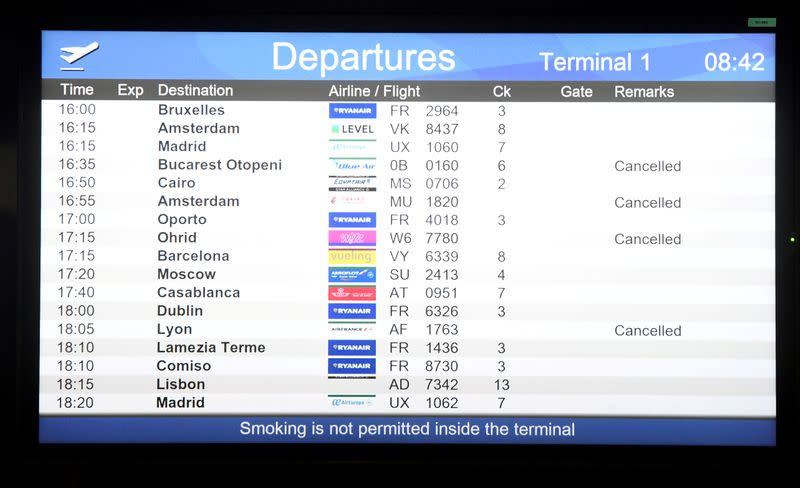 Airlines count mounting costs of the coronavirus shock