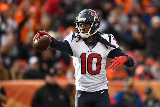 DeAndre Hopkins unanimously leads our experts top-10 wide receiver lists. (Photo by Dustin Bradford/Getty Images)