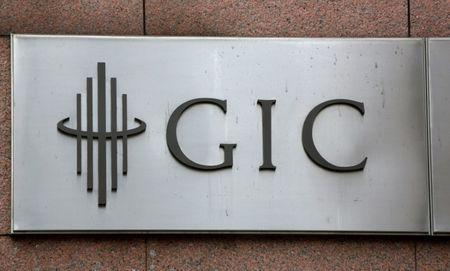 FILE PHOTO: The logo for Singapore sovereign wealth fund GIC Pte Ltd, is seen on a building in Singapore