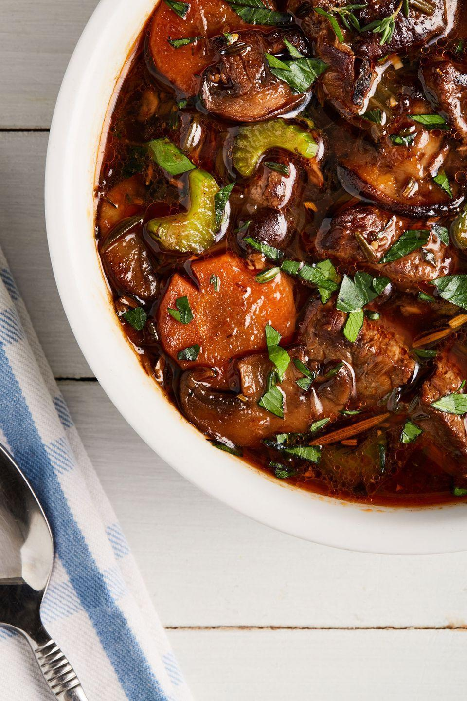 """<p>Doesn't get much better than this!</p><p>Get the recipe from <a href=""""https://www.delish.com/cooking/recipe-ideas/a30996215/keto-beef-stew-recipe/"""" rel=""""nofollow noopener"""" target=""""_blank"""" data-ylk=""""slk:Delish."""" class=""""link rapid-noclick-resp"""">Delish.</a></p>"""