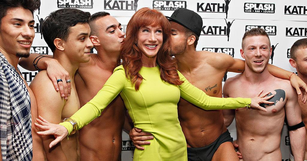 "<p class=""MsoNormal"">  </p><p class=""MsoNormal"">Kathy Griffin looked absolutely tickled to be at New York's gay dance bar Splash, where she posed with some new friends and promoted her dance mix ""I'll Say It"" on Thursday night. She tweeted plenty about the event, but nothing we can repeat here. (8/23/2012)<span style="" color:#1F497D;""></span></p>"