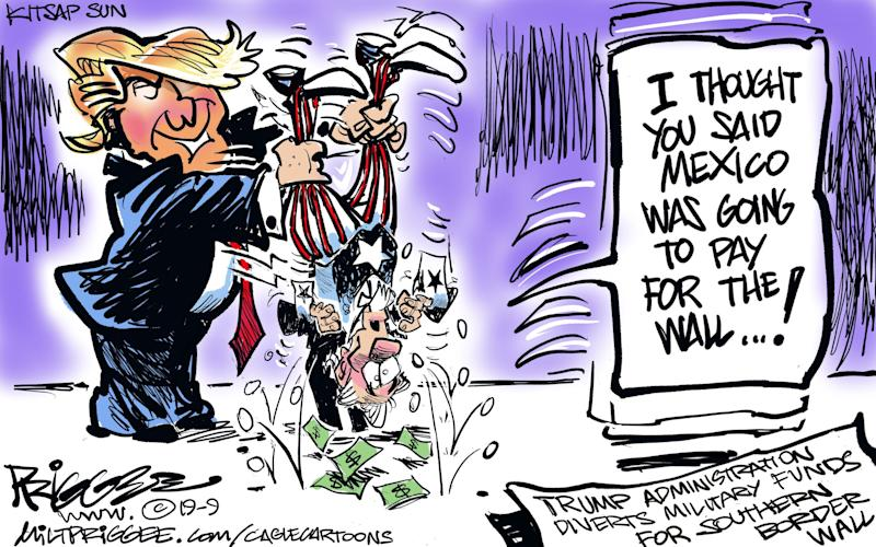 Paying for the border wall