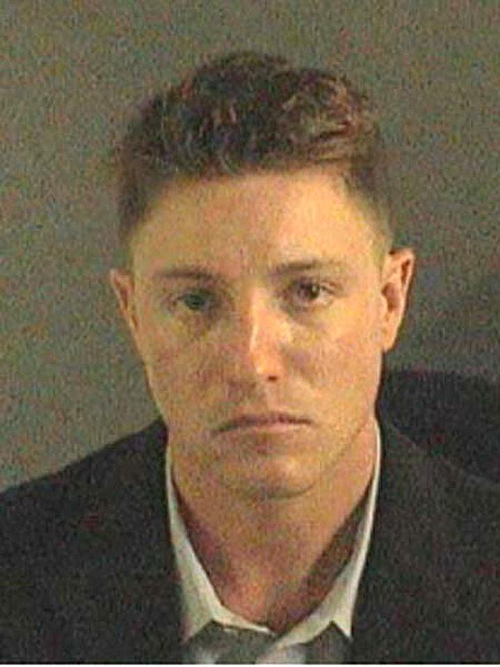 """This is the picture taken just moments after Lane Garrison was sent to prison. The former """"Prison Break"""" star was sentenced to 40 months in jail on October 31, 2007 after pleading guilty to vehicular manslaughter and drunk driving charges. <a href=""""http://www.splashnewsonline.com"""" target=""""new"""">Splash News</a> - August 8, 2007"""