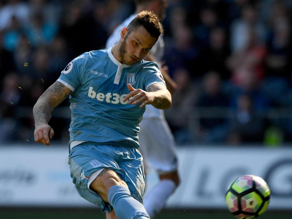 Arnautovic has a strong scoring record at the bet365 Stadium (Getty)