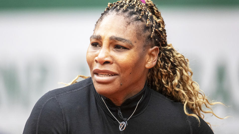 Serena Williams, pictured here in action during the first round at the French Open.