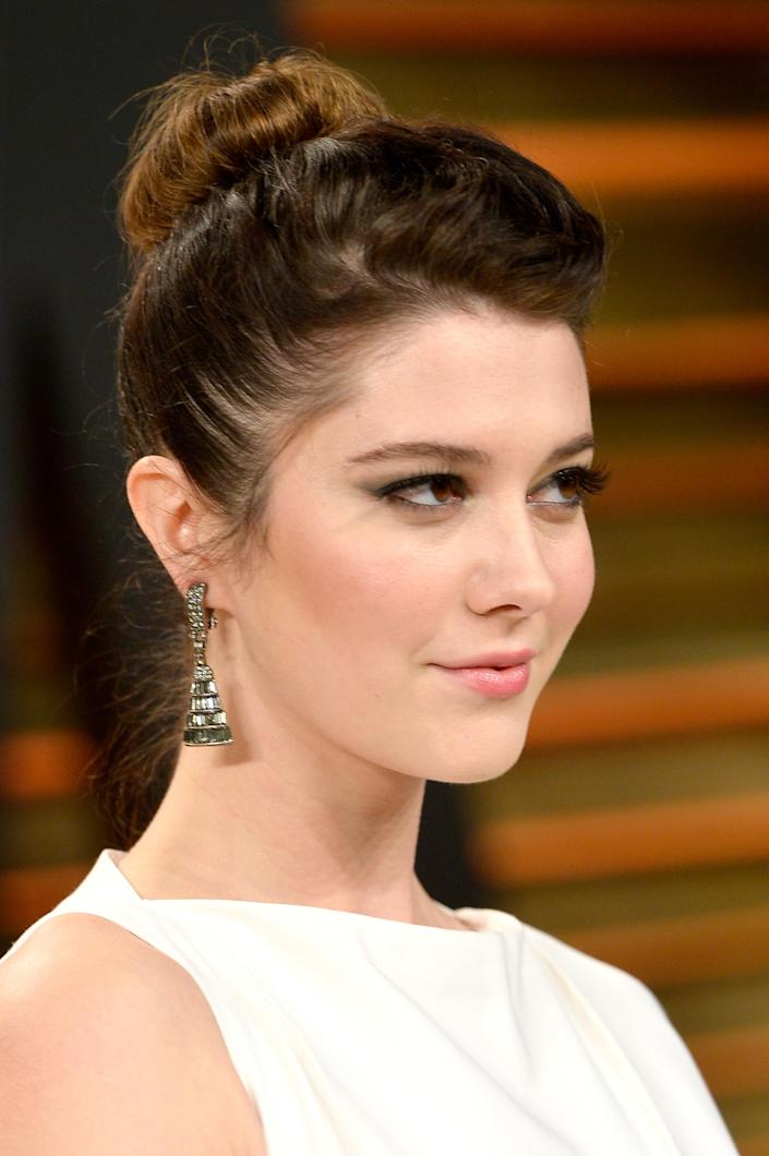 Actress Mary Elizabeth Winstead at the Vanity Fair Oscar Party in West Hollywood, California on March 2, 2014 (AFP Photo/Pascal Le Segretain)