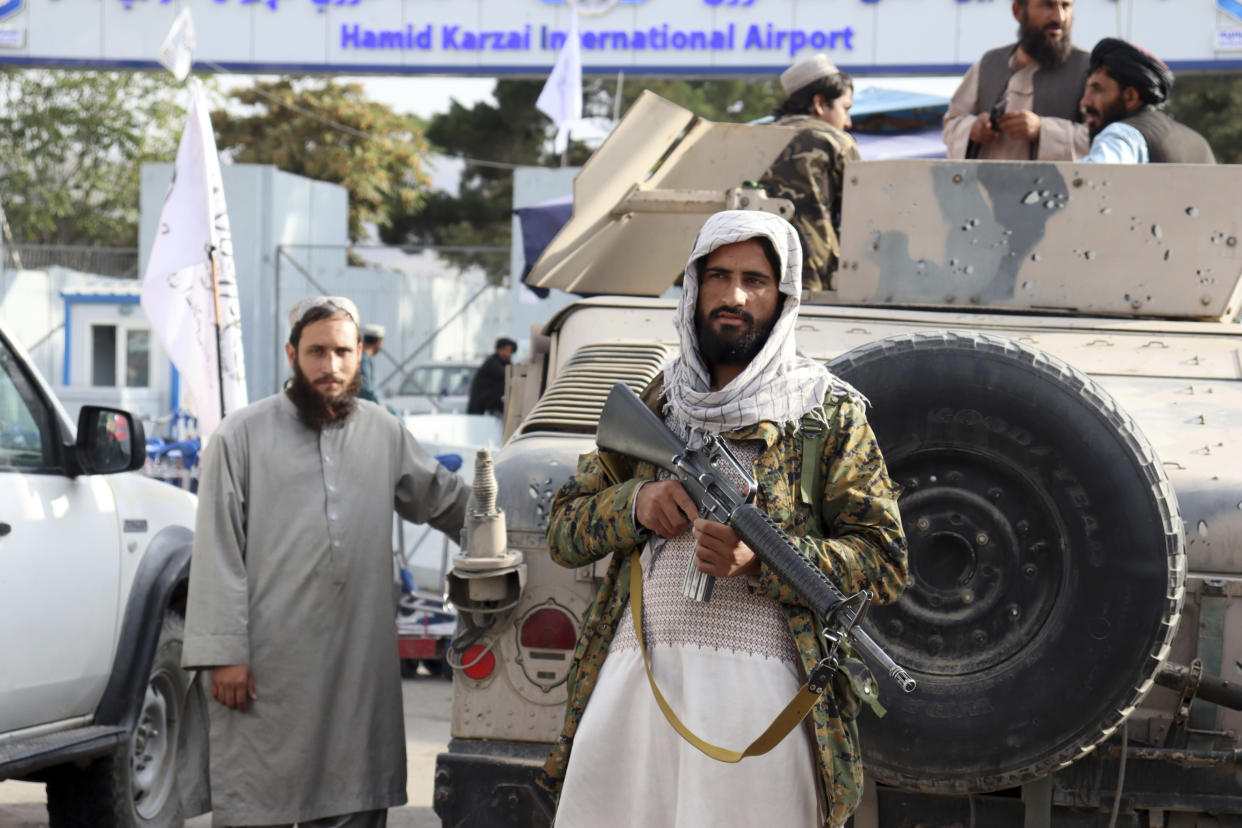 Abdul is one of thousands of people to flee to the UK after the Taliban takeover in Afganistan (Khwaja Tawfiq Sediqi/AP)
