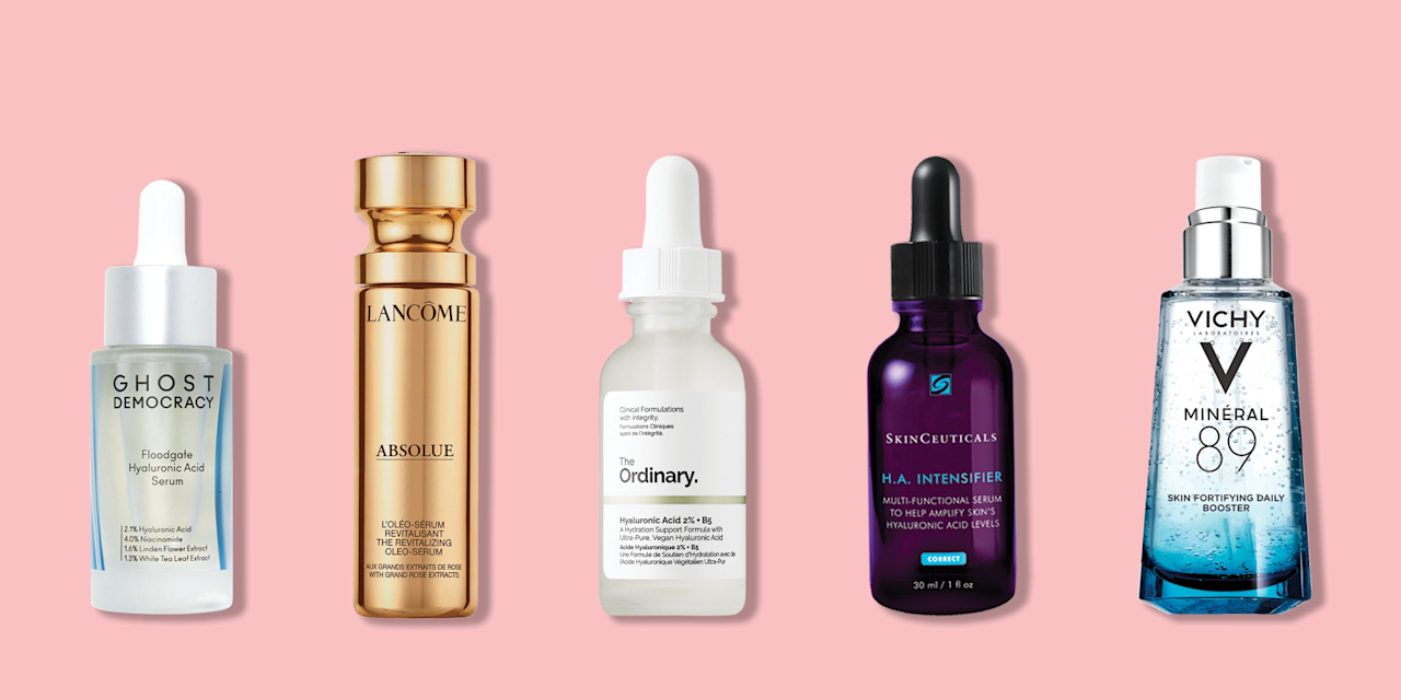 """<p>Currently riding a wave of popularity, hyaluronic acid (also known as HA) is one of the gold standard ingredients for hydrating <a href=""""https://www.goodhousekeeping.com/beauty/anti-aging/a29993947/dry-skin-on-face-treatments-causes/"""" target=""""_blank"""">dry skin</a>. """"A sugar molecule that naturally occurs in the body, hyaluronic acid is used in<a href=""""https://www.goodhousekeeping.com/beauty/anti-aging/g28135730/best-skincare-products/"""" target=""""_blank""""> skincare products </a>for its moisturizing benefits,"""" explains <a href=""""https://www.goodhousekeeping.com/institute/"""" target=""""_blank"""">Good Housekeeping Institute</a> Beauty Lab Director <a href=""""https://www.goodhousekeeping.com/author/12432/birnur-aral-ph-d/"""" target=""""_blank"""">Birnur Aral, Ph.D. </a>Often listed as <em>sodium hyaluronate </em>on product ingredients lists, its effects can be both immediate and long-term.""""The ingredient conditions skin and works as a humectant that draws moisture into skin,"""" says GH Beauty Lab senior chemist <a href=""""https://www.goodhousekeeping.com/author/1473/sabina-wizemann/"""" target=""""_blank"""">Sabina Wizemann</a>. """"It helps combat dryness and <a href=""""https://www.goodhousekeeping.com/beauty/anti-aging/a36993/dull-skin-causes/"""" target=""""_blank"""">dullness</a>, and restores suppleness.""""</p><p>Hyaluronic acid can also have <a href=""""https://www.goodhousekeeping.com/beauty-products/g723/anti-aging-skin-awards/"""" target=""""_blank"""">anti-aging</a> effects, thanks to its skin-plumping properties. """"It acts like a sponge that absorbs water, adding volume to skin,"""" says says <a href=""""https://dermatologyofct.com/about/our-providers/mona-gohara-m-d/"""" target=""""_blank"""">Mona Gohara, M.D.</a>, a dermatologist at <a href=""""https://medicine.yale.edu/"""" target=""""_blank"""">Yale School of Medicine</a> in New Haven, CT. Serums, which are lighter-weight in texture than <a href=""""https://www.goodhousekeeping.com/beauty-products/reviews/g5014/best-face-moisturizer/"""" target=""""_blank"""">moisturizers</a> like lotions or creams, del"""