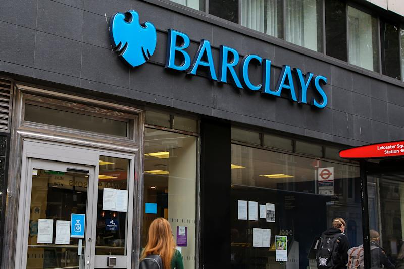 LONDON, UNITED KINGDOM - 2020/08/31: Barclays Bank branch seen in central London. (Photo by Dinendra Haria/SOPA Images/LightRocket via Getty Images)