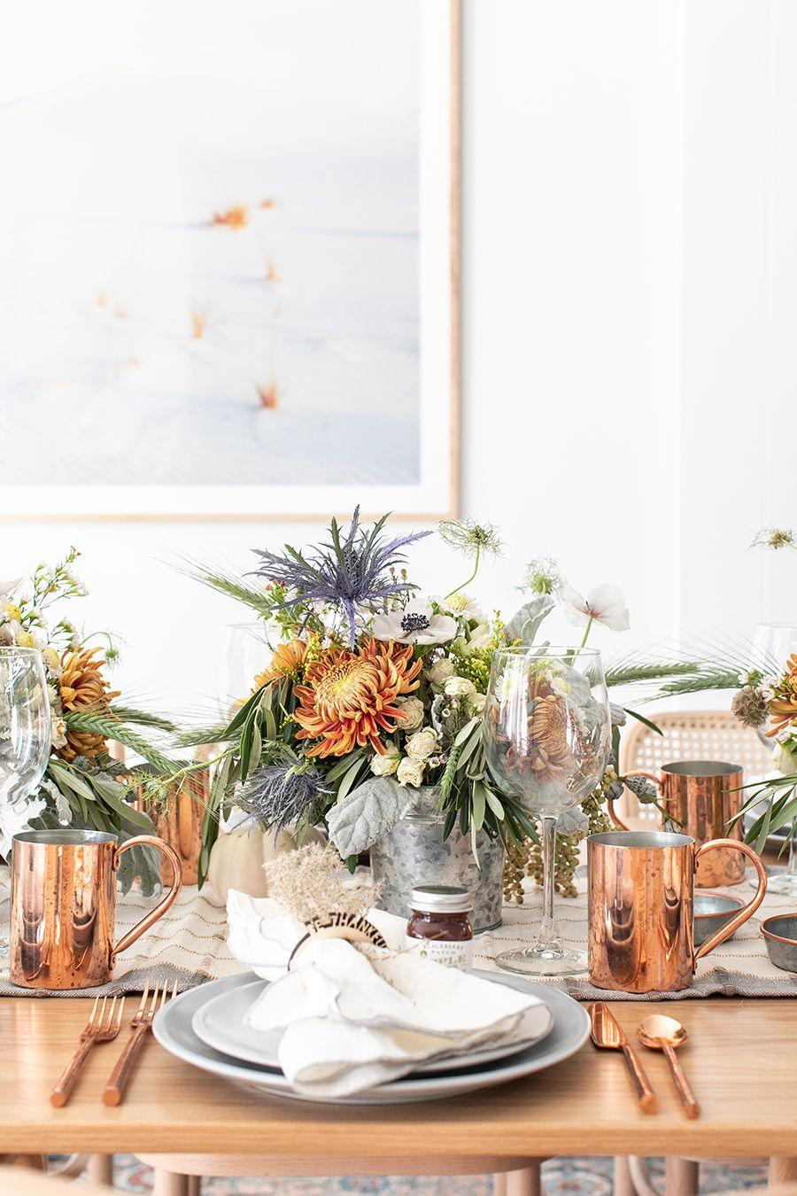 """<p>It's the ultimate rustic-modern table accessory—a galvanized bucket! Simply place your bouquet of choice into one, and watch as your table transforms into a country-chic paradise.</p><p><strong>Get the tutorial at <a href=""""https://sugarandcharm.com/a-rustic-modern-thanksgiving-table-setting"""" rel=""""nofollow noopener"""" target=""""_blank"""" data-ylk=""""slk:Sugar and Charm"""" class=""""link rapid-noclick-resp"""">Sugar and Charm</a>.</strong></p><p><a class=""""link rapid-noclick-resp"""" href=""""https://www.amazon.com/Mini-Metal-Buckets-Count-Packs/dp/B016C9XUC2?tag=syn-yahoo-20&ascsubtag=%5Bartid%7C10050.g.2130%5Bsrc%7Cyahoo-us"""" rel=""""nofollow noopener"""" target=""""_blank"""" data-ylk=""""slk:SHOP GALVANIZED BUCKETS"""">SHOP GALVANIZED BUCKETS</a></p>"""