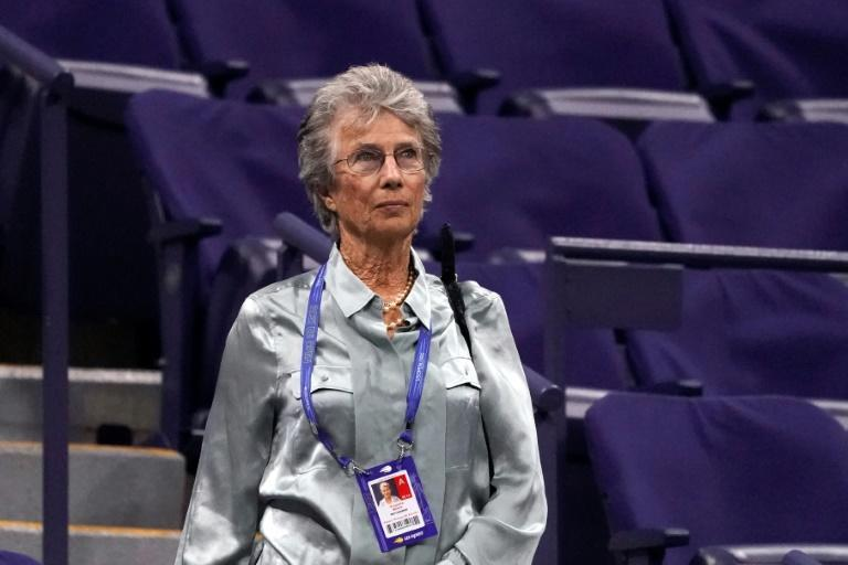 Virginia Wade, Britain's most recent women's Grand Slam singles champion, has watched British teen qualifier Emma Raducanu's historic run to the final from the stands in New York (AFP/TIMOTHY A. CLARY)