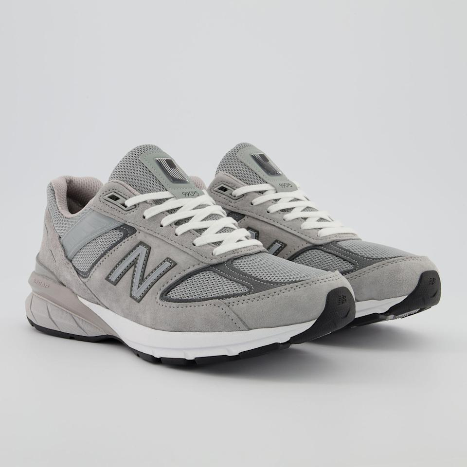 """<p><strong>New Balance</strong></p><p>newbalance.com</p><p><strong>$184.99</strong></p><p><a href=""""https://go.redirectingat.com?id=74968X1596630&url=https%3A%2F%2Fwww.newbalance.com%2Fpd%2Fmade-in-us-990v5%2F192662166382.html&sref=https%3A%2F%2Fwww.esquire.com%2Fstyle%2Fmens-fashion%2Fg36755392%2Fdad-style-dadcore-shopping-guide%2F"""" rel=""""nofollow noopener"""" target=""""_blank"""" data-ylk=""""slk:Shop Now"""" class=""""link rapid-noclick-resp"""">Shop Now</a></p><p>Dad shoes everyone—and I mean <em>everyone</em>—can agree on.</p>"""