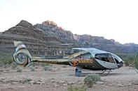 "<p><strong><a href=""https://www.viator.com/tours/Las-Vegas/Grand-Canyon-All-American-Helicopter-Tour/d684-2280AAHT"" rel=""nofollow noopener"" target=""_blank"" data-ylk=""slk:Grand Canyon All-American Helicopter Tour"" class=""link rapid-noclick-resp"">Grand Canyon All-American Helicopter Tour</a></strong></p><p><strong>Las Vegas, Nevada</strong></p><p>If you're in Vegas, you might as well check out the Grand Canyon, too. You can leave for this all-star helicopter tour from the Las Vegas Strip (after being picked up in a limo), then take in stunning views of the Grand Canyon before stopping for snacks and some champagne. The return home offers an aerial view of Vegas as well. </p>"