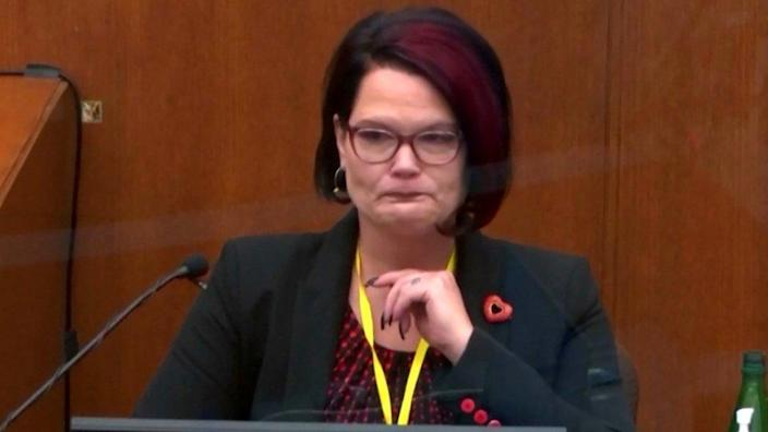 Courtney Ross gives evidence on 1 April 2021