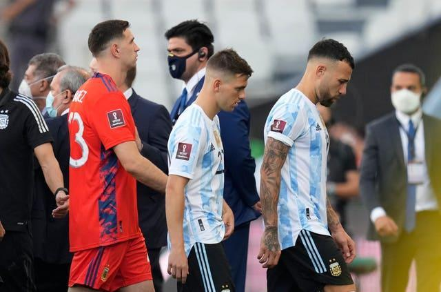 Giovani Lo Celso, centre, and Argentina