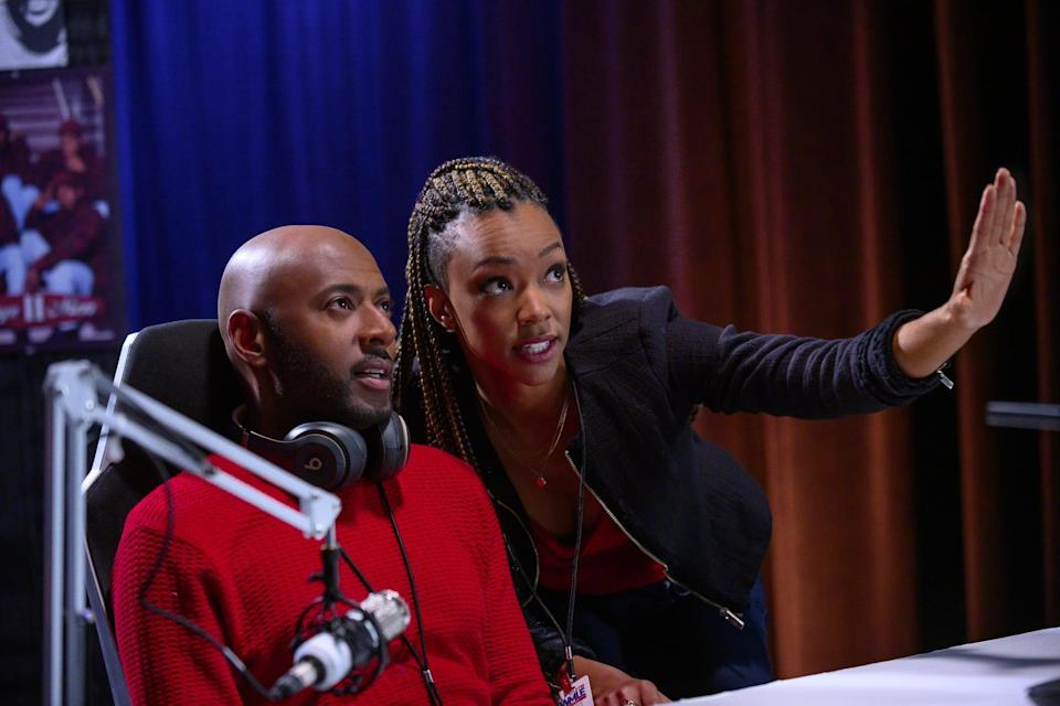 """<p>NYC-based radio DJ and widow Rush Williams (Romany Malco) loses his job right around Christmas, when his spoiled kids hit him with a list of pricey gift requests. His producer Roxy Richardson (Sonequa Martin-Green) and his Aunt Jo (Darlene Love) come up with a plan to help him buy another station, but it means the Williams family will have to downsize into a <em>much</em> simpler life. Can they do it?</p> <p>Watch <a href=""""https://www.netflix.com/title/81033086"""" class=""""link rapid-noclick-resp"""" rel=""""nofollow noopener"""" target=""""_blank"""" data-ylk=""""slk:Holiday Rush""""><strong>Holiday Rush</strong></a> on Netflix now.</p>"""
