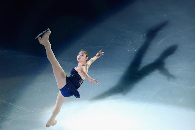 SHANGHAI, CHINA - NOVEMBER 04: Mirai Nagasu of United States performs during Cup of China ISU Grand Prix of Figure Skating 2012 at the Oriental Sports Center on November 4, 2012 in Shanghai, China. (Photo by Feng Li/Getty Images)