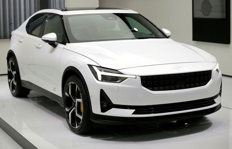 FILE PHOTO: The new Volvo Polestar 2 at the 89th Geneva International Motor Show