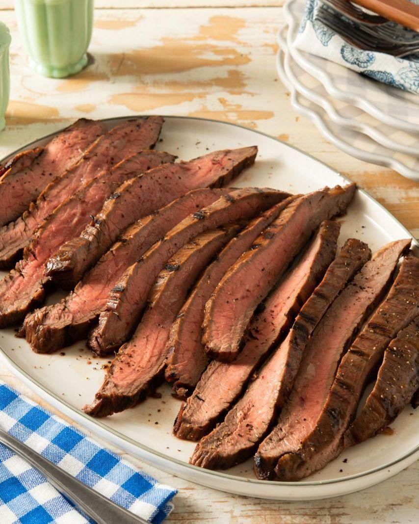 """<p>Flank steak doesn't have a lot of fat, so use a marinade like this one to infuse the meat with flavor and tenderize it at the same time. It's perfectly balanced, thanks to the mix of savory Worcestershire sauce, red wine vinegar, and brown sugar for a hint of sweetness.</p><p><a href=""""https://www.thepioneerwoman.com/food-cooking/recipes/a36356223/grilled-flank-steak/"""" rel=""""nofollow noopener"""" target=""""_blank"""" data-ylk=""""slk:Get the recipe."""" class=""""link rapid-noclick-resp""""><strong>Get the recipe.</strong></a></p><p><a class=""""link rapid-noclick-resp"""" href=""""https://go.redirectingat.com?id=74968X1596630&url=https%3A%2F%2Fwww.walmart.com%2Fsearch%2F%3Fquery%3Dsteak%2Bknives&sref=https%3A%2F%2Fwww.thepioneerwoman.com%2Ffood-cooking%2Frecipes%2Fg36491151%2Fmarinade-recipes-for-grilling%2F"""" rel=""""nofollow noopener"""" target=""""_blank"""" data-ylk=""""slk:SHOP STEAK KNIVES"""">SHOP STEAK KNIVES</a></p>"""