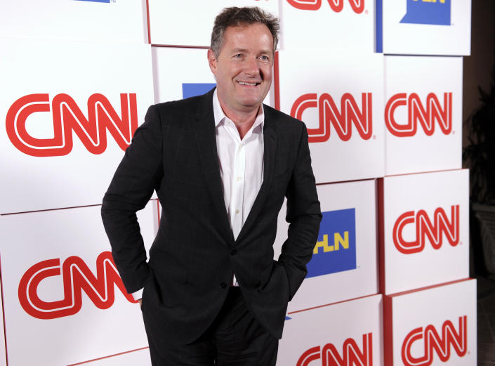 FILE - This Jan. 10, 2014 file photo shows Piers Morgan of the CNN show