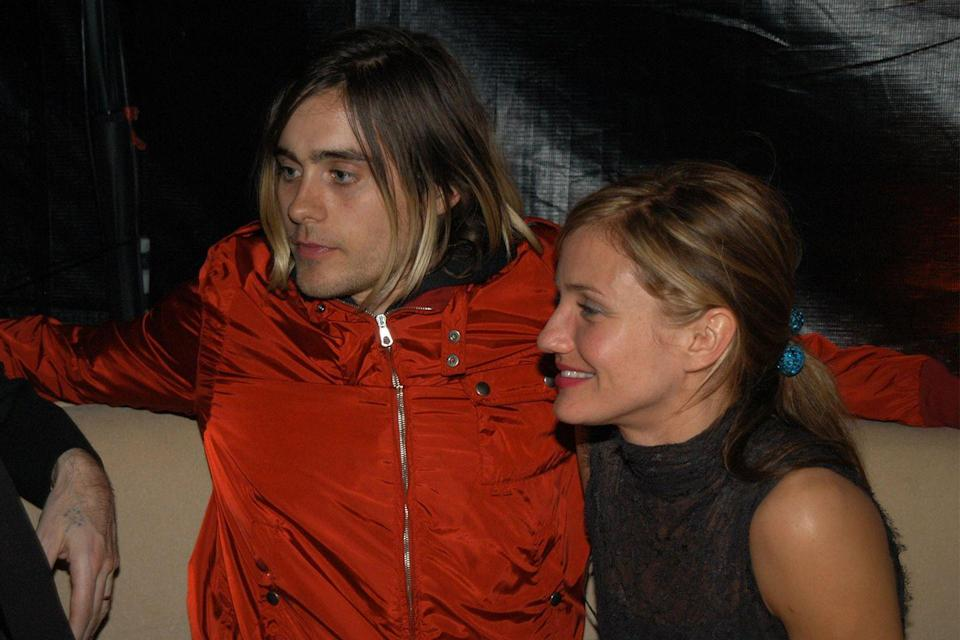 """<p>Cameron Diaz has dated a lot of other big-name celebs, including Justin Timberlake, Alex Rodriguez, and Jared Leto. When she <a href=""""https://www.huffingtonpost.com/2015/01/06/cameron-diaz-exes_n_6425032.html"""" rel=""""nofollow noopener"""" target=""""_blank"""" data-ylk=""""slk:began dating Leto in 1999"""" class=""""link rapid-noclick-resp"""">began dating Leto in 1999</a>, they tried to keep their relationship a secret—but word got out. After a four-year romance, Diaz and Leto split. Twelve years later, the actress married her current husband, Benji Madden, and has completely forgotten about her previous relationships. </p><p>""""Nothing matters now that I have my husband,"""" explained on <a href=""""https://soundcloud.com/siriusxmentertainment/when-cameron-diaz-looks-back-on-past-relationships-she-thinks"""" rel=""""nofollow noopener"""" target=""""_blank"""" data-ylk=""""slk:Cohen's SiriusXM show"""" class=""""link rapid-noclick-resp"""">Cohen's SiriusXM show</a>. """"I don't even remember any of that. Like, that's the thing. That's how I know he's my husband because there's…no one compares. Everything else just washes and slips away.""""<br></p>"""