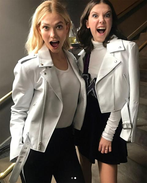 Karlie Kloss Meets 'Girl Crush' Millie Bobby Brown at NYFW