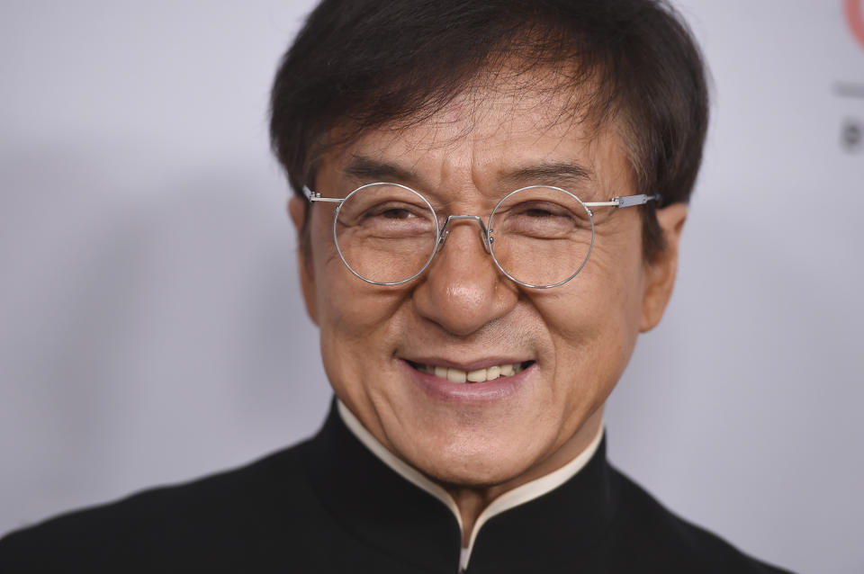 Jackie Chan arrives at the BAFTA Los Angeles Britannia Awards at the Beverly Hilton Hotel on Friday, Oct. 25, 2019, in Beverly Hills, Calif. (Photo by Jordan Strauss/Invision/AP)
