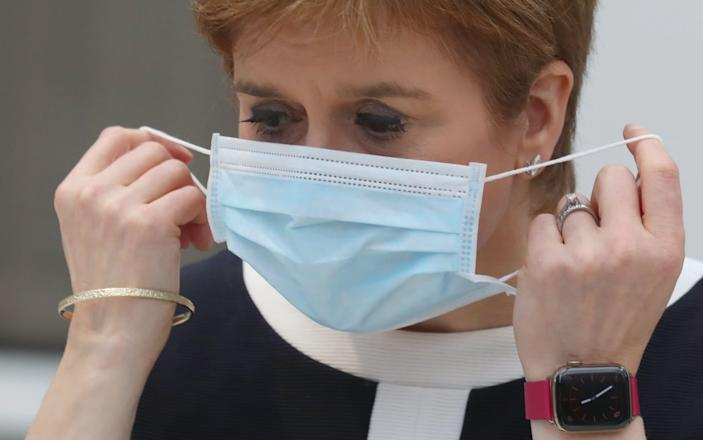 First Minister, Nicola Sturgeon during a visit to the NHS Louisa Jordan at the SEC, Glasgow, to learn about the venue being adapted for treating outpatients on July 27, 2020 in Glasgow, Scotland - Getty Images